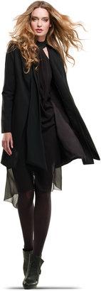 Max Studio Gabardine Swing Coat