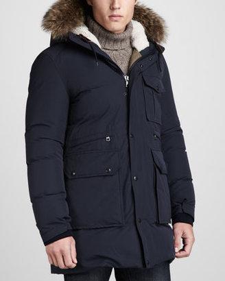 Moncler Dimont Fur-Trim Parka