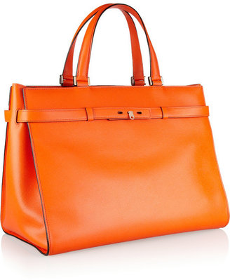 Valextra B-Shopping textured-leather tote
