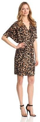 Chaus Women's Dolman Wrap Leopard Dress