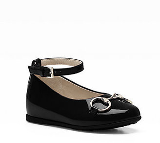 Gucci Infant's & Toddler's Charlotte Patent Leather Ballet Flats