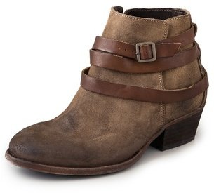 Hudson H by Horrigan Suede Wrap Strap Booties