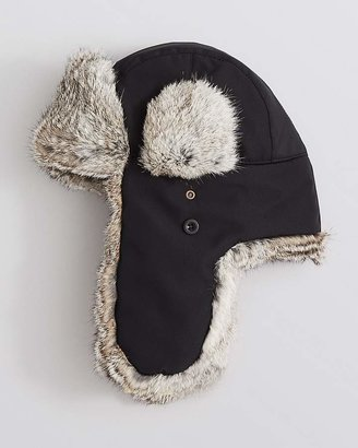 The Men's Store at Bloomingdale's Ultratech Fur-Lined Bomber Hat $90 thestylecure.com