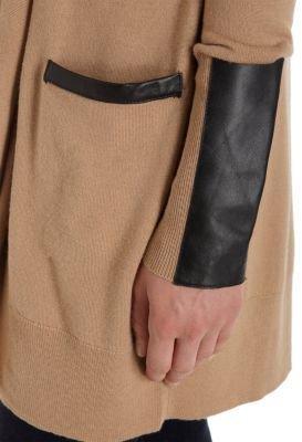 Barneys New York CO-OP Leather Sleeve Drape Cardigan