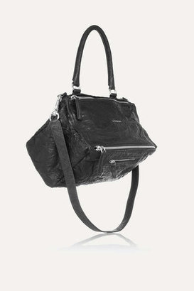 Givenchy Medium Pandora Washed-leather Shoulder Bag - Black