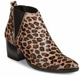 SFW Leopard Print Leeather Chelsea Boots