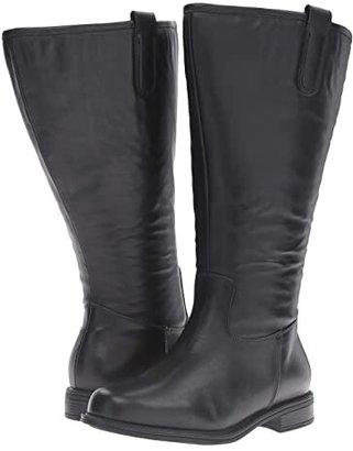 David Tate Best - Super Wide Calf (Black Leather 2) Women's Shoes