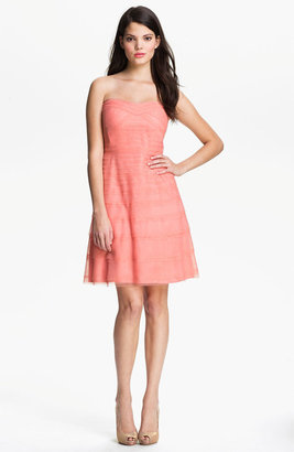 Donna Morgan Strapless Tulle Dress