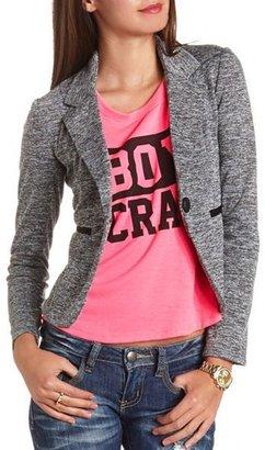 Charlotte Russe Heathered Long Sleeve Blazer