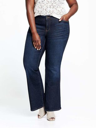 Old Navy Women's Plus Smooth & Slim Mid-Rise Boot-Cut Jeans