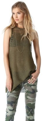Elizabeth and James Pointelle High Slit Tank
