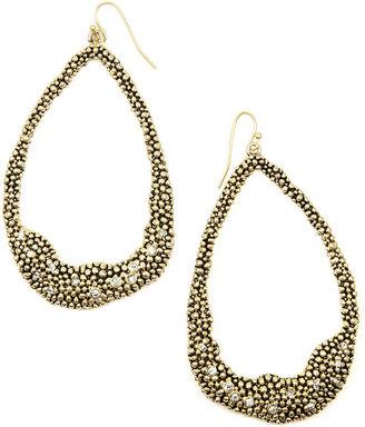 Rachel Roy Earrings, Gold-Tone Crystal Hoop Earrings