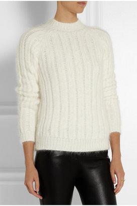 Balmain Ribbed angora-blend sweater
