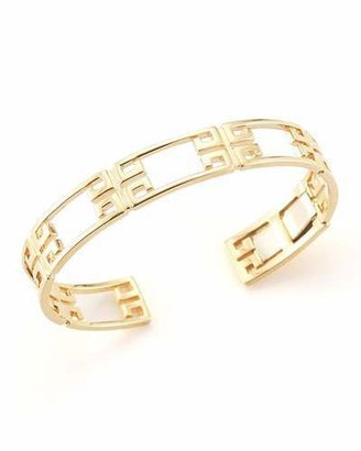 Ivanka Trump Patras 18k Yellow Gold Open-Frame Bangle $5,200 thestylecure.com