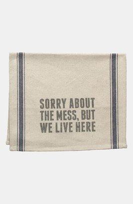 Primitives by Kathy 'We Live Here' Tea Towel