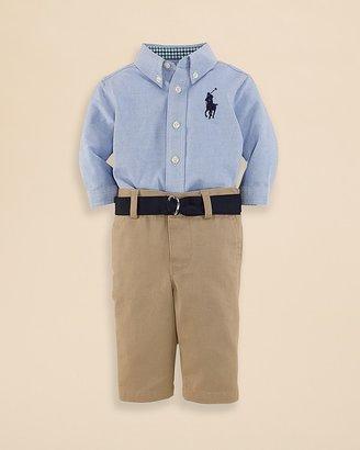 Ralph Lauren Infant Boys' Oxford Shirt & Pants Set - Sizes 3-9 Months