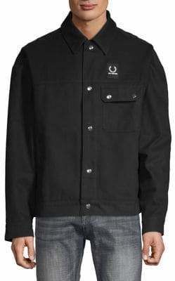 Raf Simons Fred Perry x Oversized Button-Up Jacket