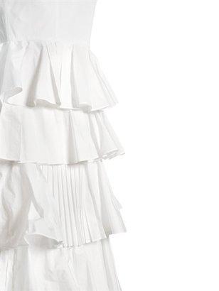 Viktor & Rolf Flounced Techno Taffeta Long Dress