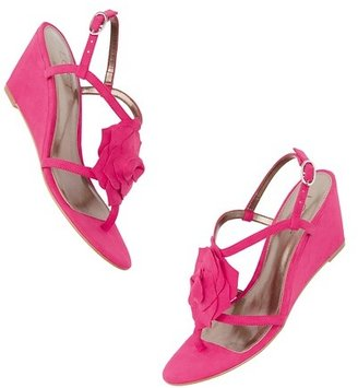 LOFT Francis Flower Wedge Sandals