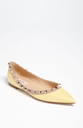 Valentino 'Rockstud' Ballerina Flat