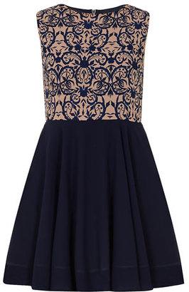 Dorothy Perkins Blue/pink print prom dress