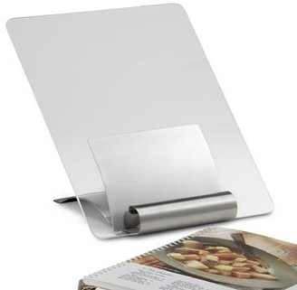 Bed Bath & Beyond Stainless Steel Cookbook Stand with Cover