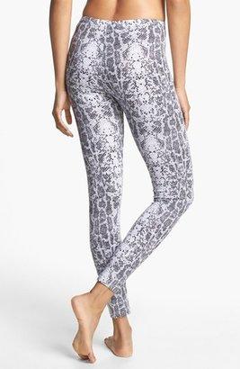 Pink Lotus Python Print Leggings