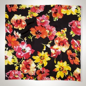 Ralph Lauren Silk Floral Square Scarf