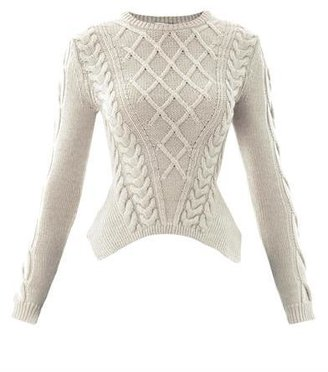 Carven Sculpted cable-knit sweater