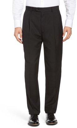 Men's Linea Naturale Pleated Microfiber Dress Pants $99.50 thestylecure.com