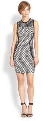 Torn By Ronny Kobo Tali Mixed-Pattern Body-Con Dress