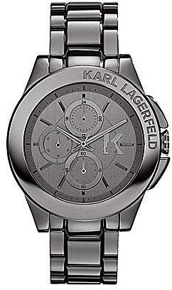 Karl Lagerfeld Sport Gunmetal Chronograph Bracelet Watch