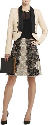 BCBGMAXAZRIA Karlie Relief-Jacquard Lace A-Line Skirt