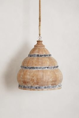 Anthropologie Handcrafted Meso Pendant Lamp