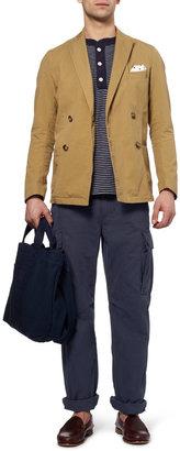 Beams Straight-Leg Cotton-Blend Cargo Trousers
