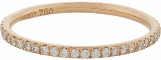 Ileana Makri Women's Pavé Diamond & Pink Gold Thread Band