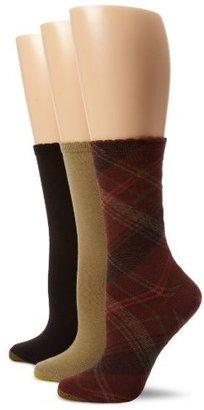 Gold Toe Women's Plaid 3 Pair Fashion Pack Dress Socks