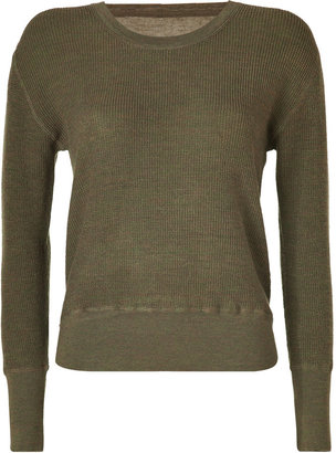 Marc by Marc Jacobs Moss Green Wool Tinker Thermal Pullover