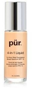 PUR Cosmetics 4-in-1 Liquid Foundation SPF 15 $36 thestylecure.com
