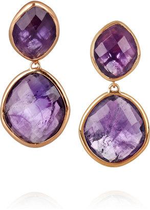Monica Vinader 18-karat rose gold-vermeil amethyst earrings