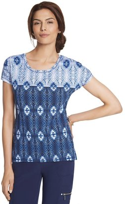 Chico's Candy Ikat Print Tee