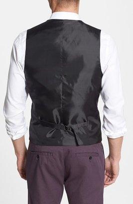 Topman Skinny Fit Check Wool Blend Vest