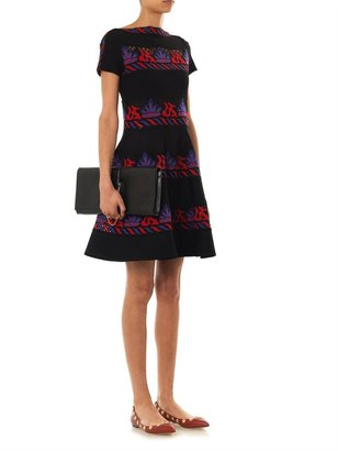 Valentino Embroidered tribal lace dress