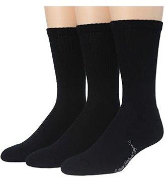 Smartwool Heathered Rib 3-Pair Pack (Black) Men's Crew Cut Socks Shoes