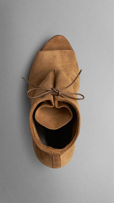 Burberry Calf Suede Ankle Boots