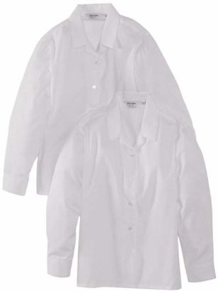 "Trutex Girl's Long Sleeve Non-Iron Rever Blouse,(Manufacturer Size: 42"" Chest)"