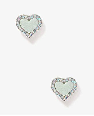Forever 21 Heart-Shaped Rhinestoned Studs