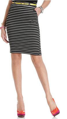 Urban Hearts Juniors Skirt, Striped High-Waist Pencil
