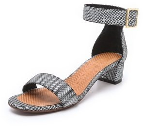 Chie Mihara Yves Print Suede Sandals