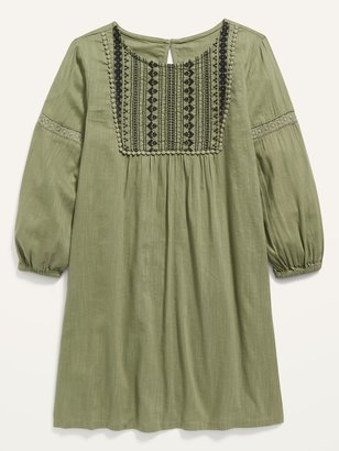 Old Navy Long-Sleeve Lace-Trim Dress for Girls